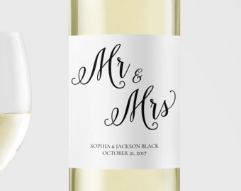 Printable wine label | Etsy