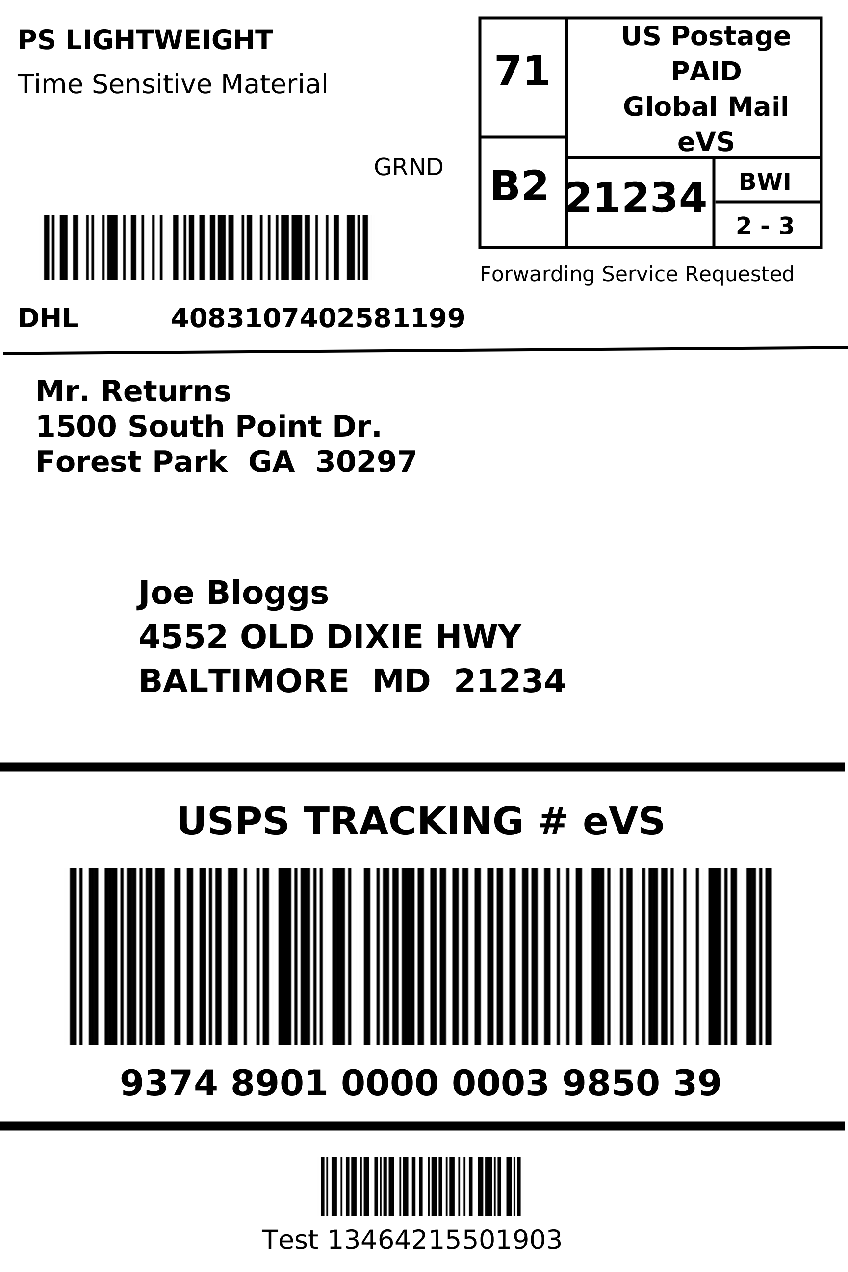 DHL eCommerce Generate a Shipping Label