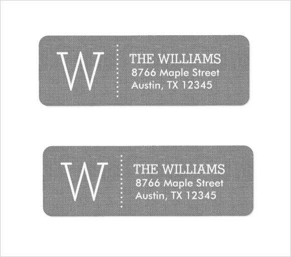 Return Address Label Add Your