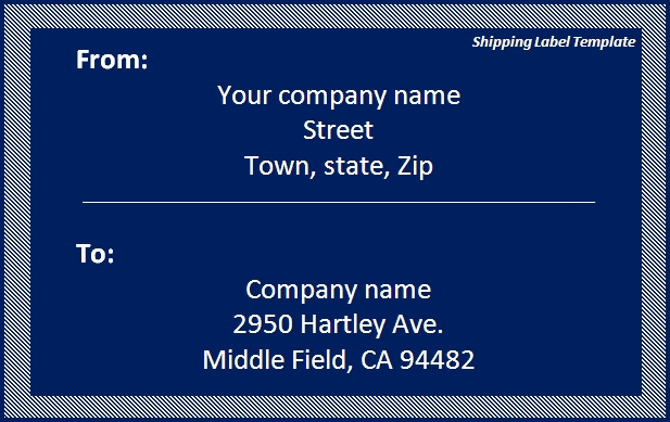 Shipping Label Template Download Template   Word Excel PDF
