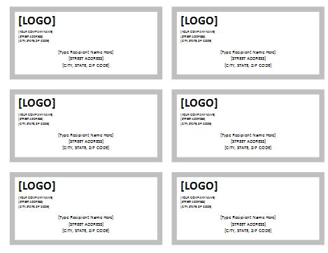Free Shipping Label Template   Formal Word Templates