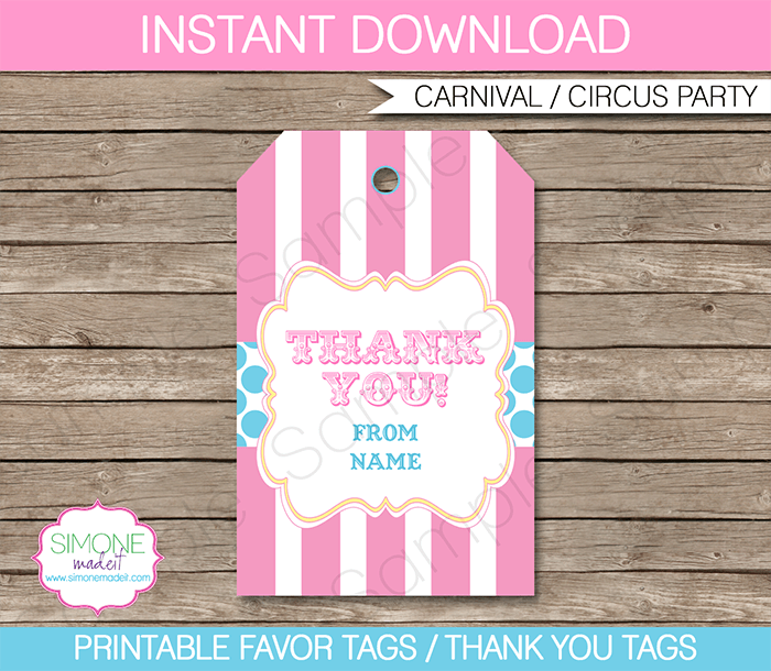 Free Printable! Thank You Favor Tags | Free printable, Favours and