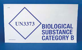Item # BHM527, Biohazardous and Substance Category B On Polar Tech