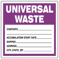 ICC > Labels  > Waste  > Universal