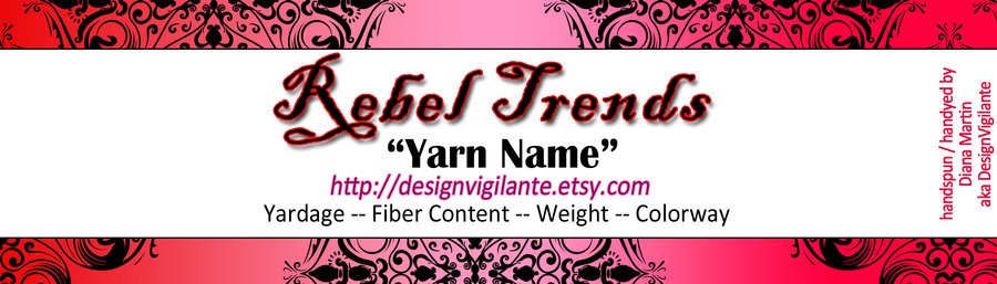 New Rebel Trends Yarn Label by DesignVigilante on DeviantArt