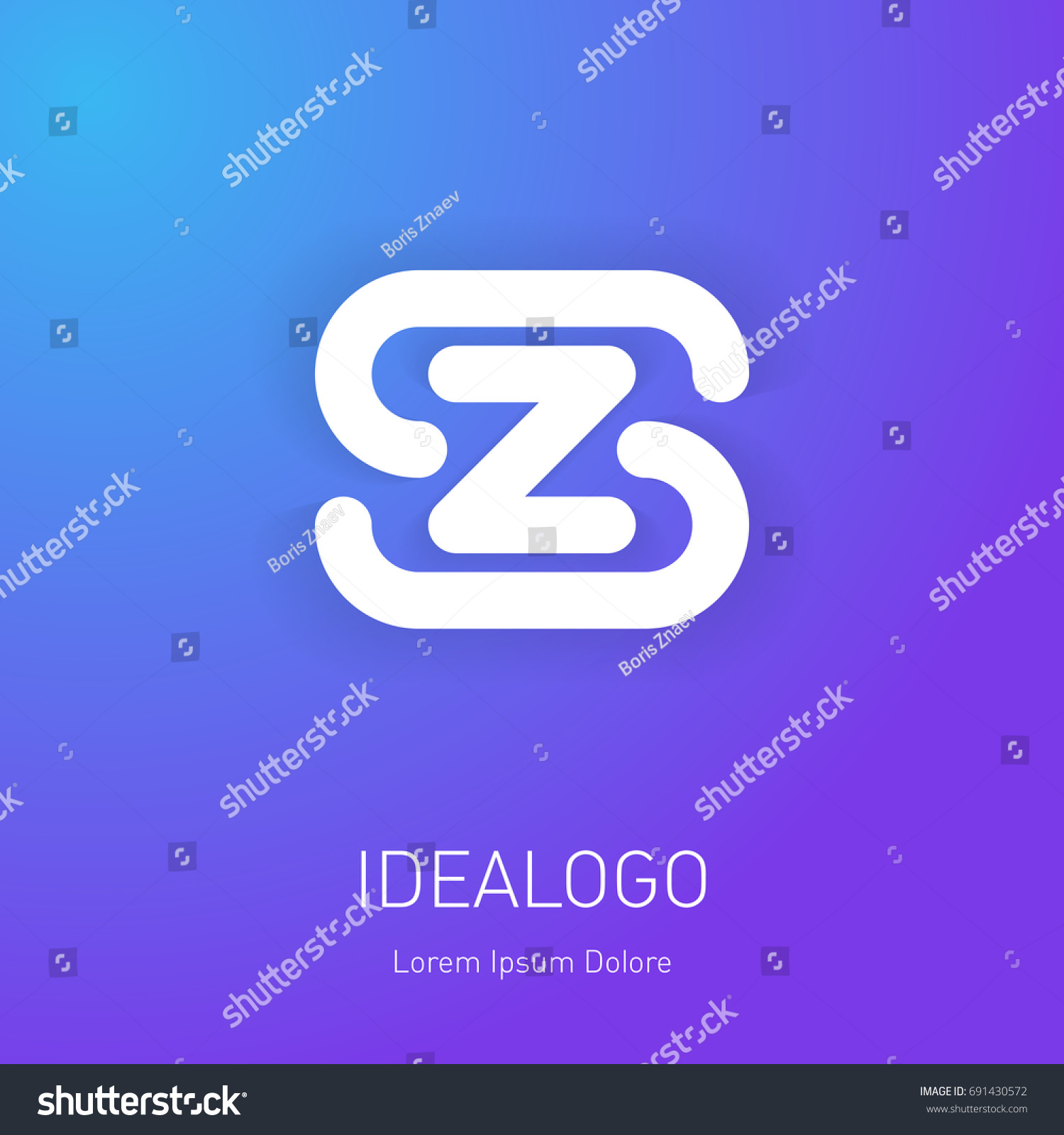 Logo Template Letters S Z On Stock Vector 691430572 Shutterstock